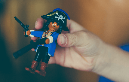海賊のフィギュア